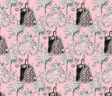 Princess Haddyr ~ Toile fabric by peacoquettedesigns on Spoonflower - custom fabric