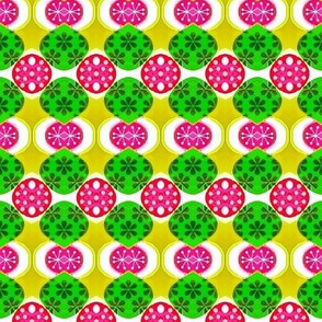 pink and green ornaments 01
