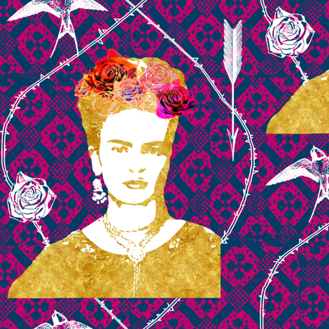 Frida 5 fabric by nouveau_bohemian on Spoonflower - custom fabric