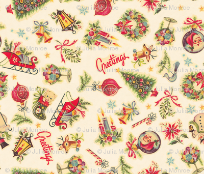 Retro Christmas Decals