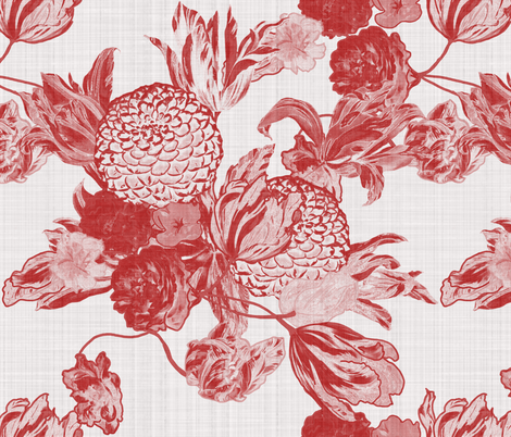 Blooming Flowers ~ Barn Party fabric by peacoquettedesigns on Spoonflower - custom fabric