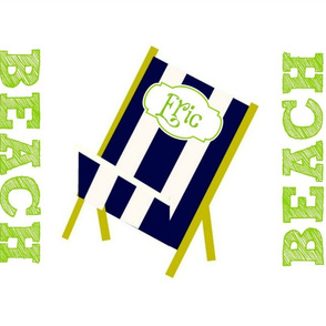 My Beach Chair Navy - personlized
