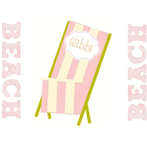 My Beach Chair Pink Personalized
