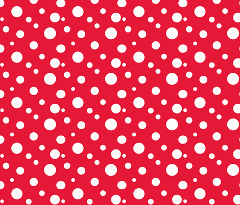 Red Polka fabric by christy_kay on Spoonflower - custom fabric
