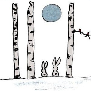 Birch Tree Bunnies 2