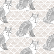 Tribal Fox in Grey