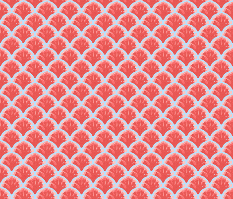 Coral Sea fabric by shellypenko on Spoonflower - custom fabric