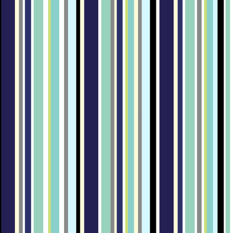 Stripes of Aquas and Blues. fabric by house_of_heasman on Spoonflower - custom fabric