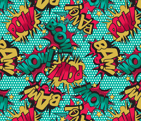 Comic Book fabric by seasonofvictory on Spoonflower - custom fabric