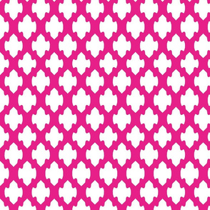 Electric pink and white arrow lattice-ch