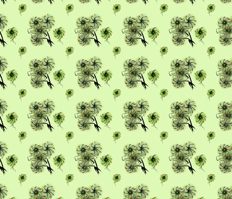 Furry Flowers fabric by chovy on Spoonflower - custom fabric