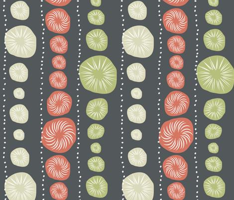 Sea Urchin Blue fabric by designedtoat on Spoonflower - custom fabric