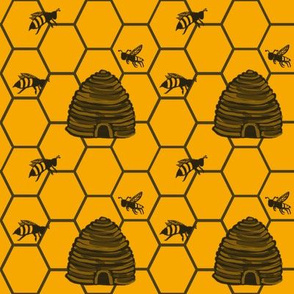 Flight of the honeybees