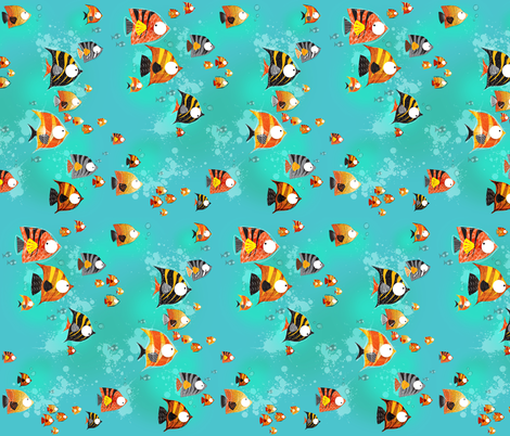 Great Orange Crush - small scale fabric by mulberry_tree on Spoonflower - custom fabric