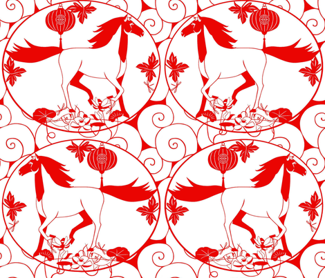 The_year_of_the_horse fabric by alfabesi on Spoonflower - custom fabric