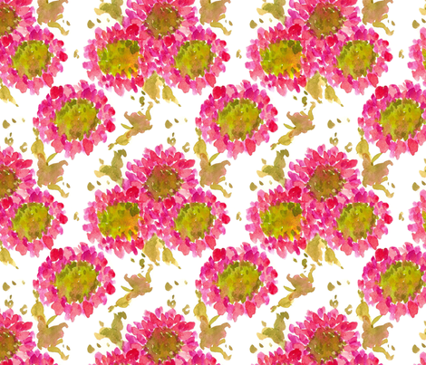 Pink Chrysanthemums fabric by countrygarden on Spoonflower - custom fabric