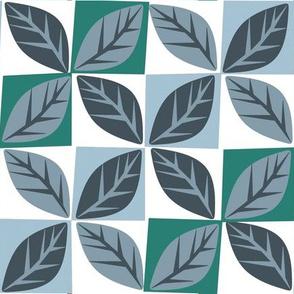 Leaf diamonds (white)