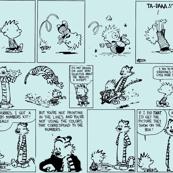 Calvin & Hobbs - teal