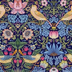 The Strawberry Thief (Flower and Bird Pattern),