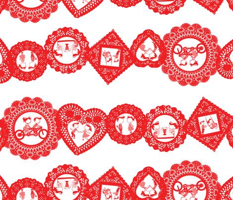 Valentine-Stripe-big fabric by ohgnomegirl on Spoonflower - custom fabric