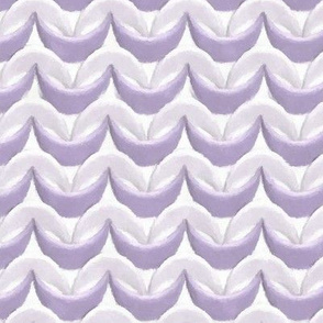 3D Mauve and White Waves