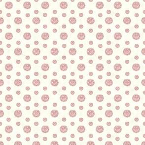 Pink Jewels on Cream