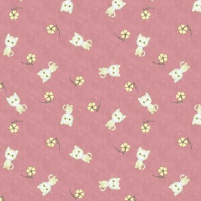 Pretty Kittens on Dark Pink