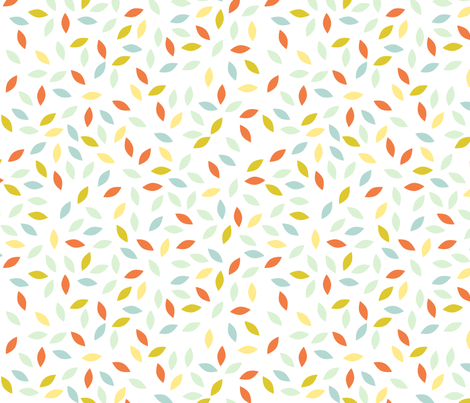 petals_orange fabric by brokkoletti on Spoonflower - custom fabric