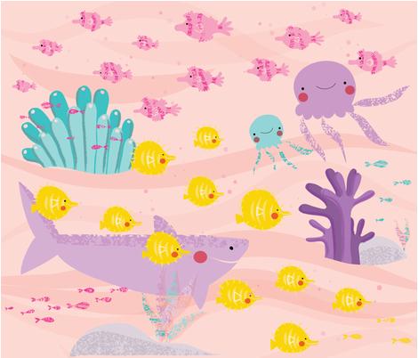 Happy Fishy Neighbourhood  fabric by cocogigidesign on Spoonflower - custom fabric