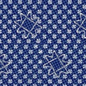 Atomika - blue, purple, white