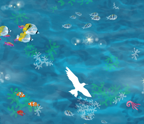 Lagoon fabric by forest&sea on Spoonflower - custom fabric
