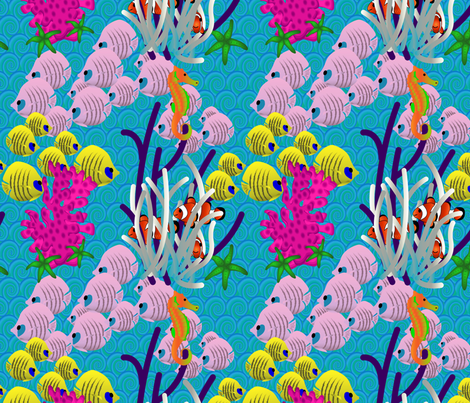 Great_Barrier_Reef2 fabric by chesapeaketess on Spoonflower - custom fabric