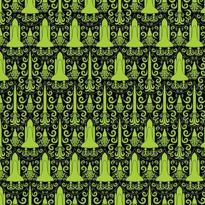 Rocket Science Damask (Black and Green)