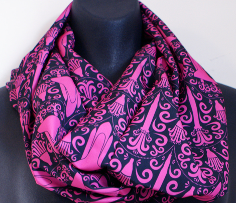 Rocket Science Damask (Black and Pink)