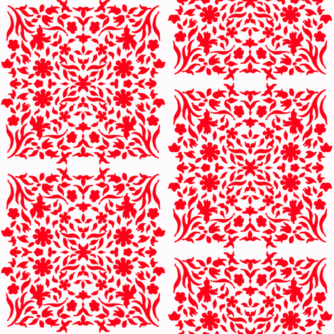 Middle Eastern Chinese Paper-Cut Panels R&W fabric by zsmama on Spoonflower - custom fabric