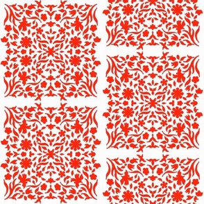 Middle Eastern Chinese Paper-Cut Panels R&W