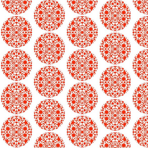 Middle Eastern Chinese Paper-Cut Red on White
