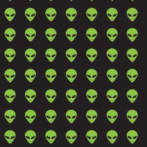 Green Aliens at Night