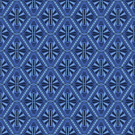 Art Deco Diamonds (Blue) fabric by robyriker on Spoonflower - custom fabric