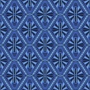 Art Deco Diamonds (Blue)