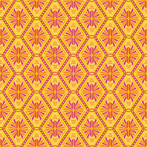 Art Deco Diamonds (Warm Neon) fabric by robyriker on Spoonflower - custom fabric