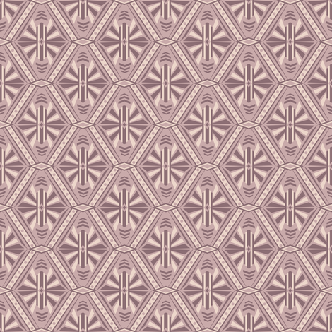 Art Deco Diamonds (Mauve) fabric by robyriker on Spoonflower - custom fabric