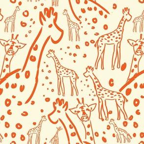 giraffe love ©2012 Jill Bull