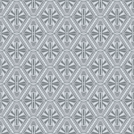 Art Deco Diamonds (Silver) fabric by robyriker on Spoonflower - custom fabric
