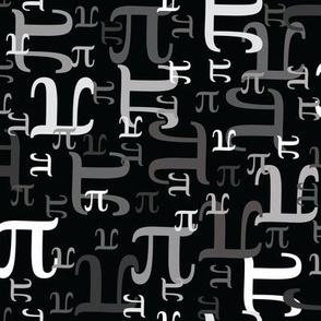Pieces of Pi (Black & Gray)