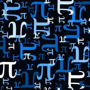 Pieces of Pi (Black & Blue)