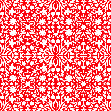 Chinese Paper Cut - small scale fabric by zsmama on Spoonflower - custom fabric