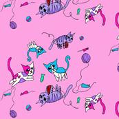 Pink Kitty Print