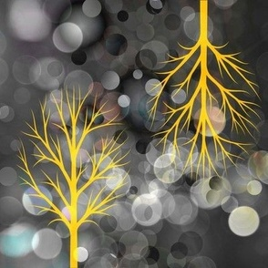 Glowing Yellow Trees