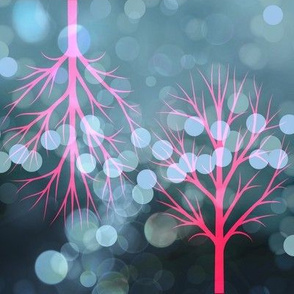 Glowing Pink Trees